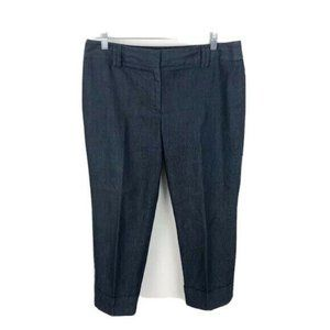 Loft Chambray Pants Cropped Cuffed Career Work 8